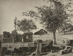 Kashmir. Ruins of an old Hindu Temple at Vitcher Nag near Srinagar. Now used as a Mahomedan burial ground